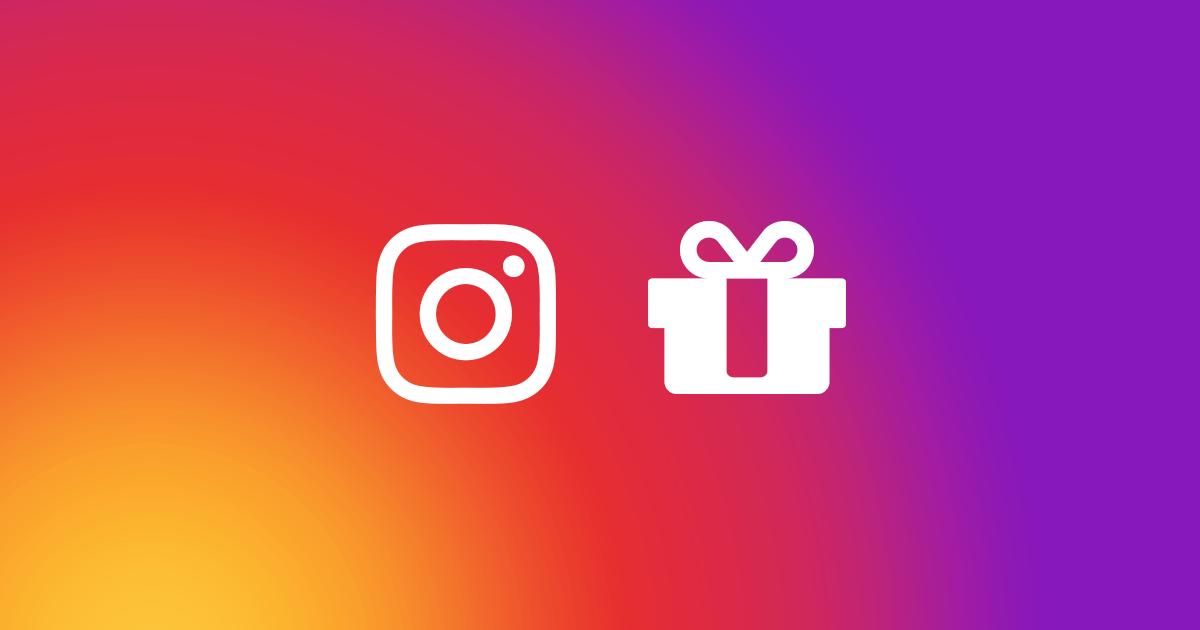 Contest design on Instagram