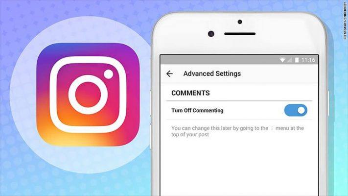 How to close an Instagram comment
